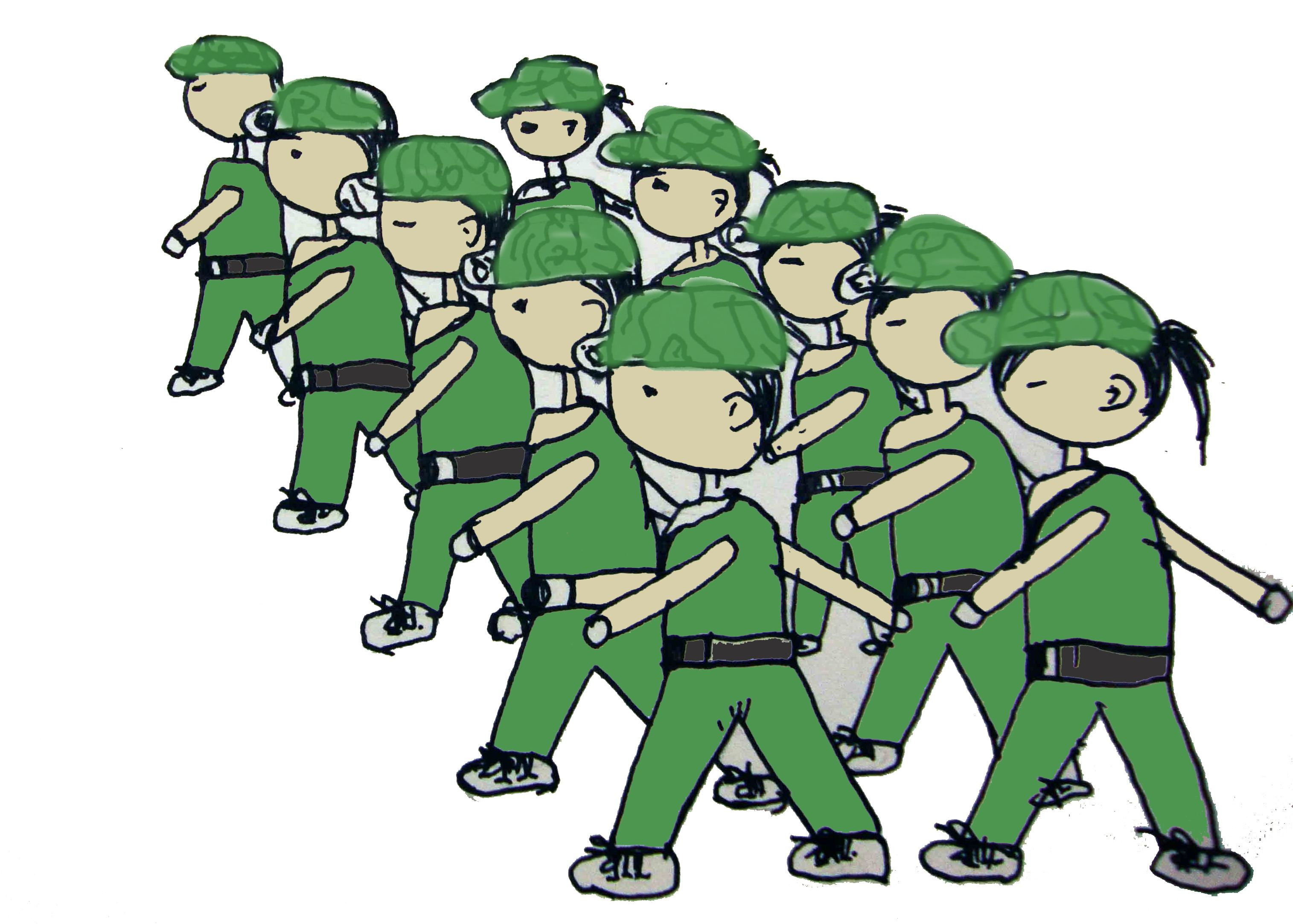 学生军训图片素材