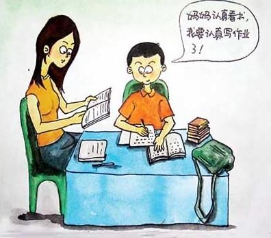 陪孩子写作业应该注意什么图片