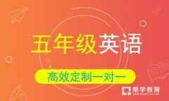 秦学教育-小学五年级英语一对一辅导VIP课程