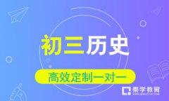 秦学教育-初三历史一对一冲刺辅导课程