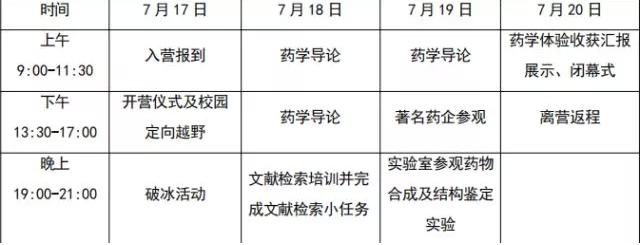 中山大学药学院2018年中学生夏令营招生通知!报名截止6月28日!