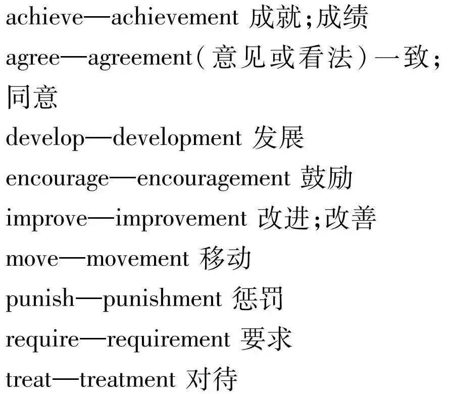 初中英語動詞變名詞有幾種情況?這幾種情況分別是如何變化的??