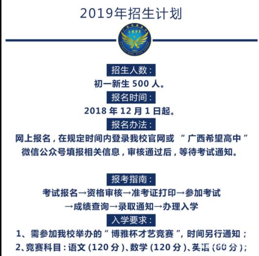 2019年广西博雅高中(休学高中)招生简章!v高中河南初中希望图片