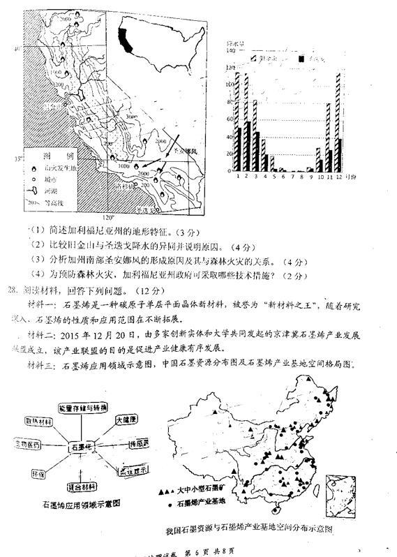 2019年南京鹽城一模高三地理考試真題及答案詳解分享!