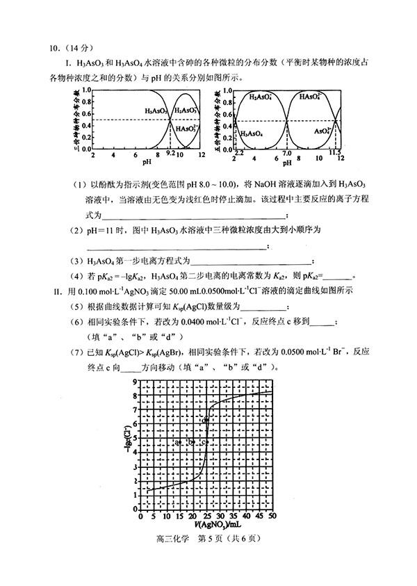 2019年沈阳市高三一模化学试卷及答案详解整理,考生可参考!