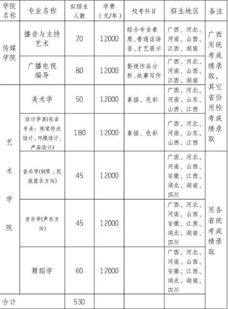 广西民族大学2019年艺术类专业招生简章发布,校考科目分享!