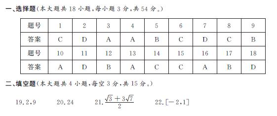 浙江数学学考试题答案 浙江省2019年1月学考试题真题整理含答案