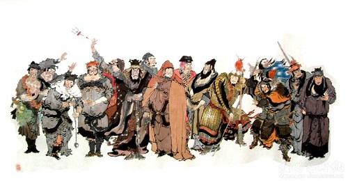 《水浒传》中哪六个人没有去打方腊呢?他们的结局怎么样呢?