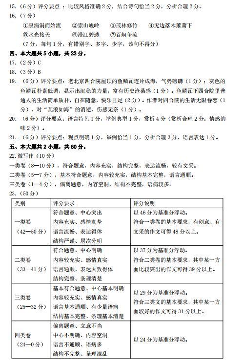 海淀一模:2019年北京市海淀高三一模语文答案,大家快看!