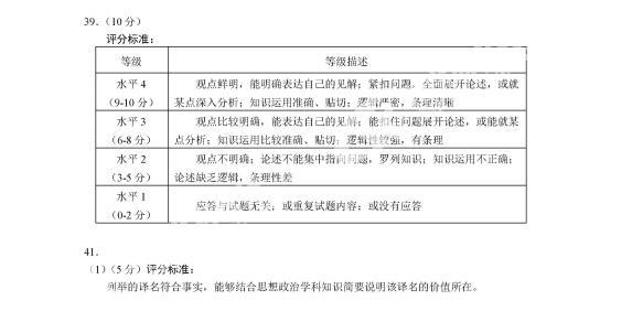 2019年北京市海淀高三一模(物理、化学、生物、历史、政治、地理)参考答案