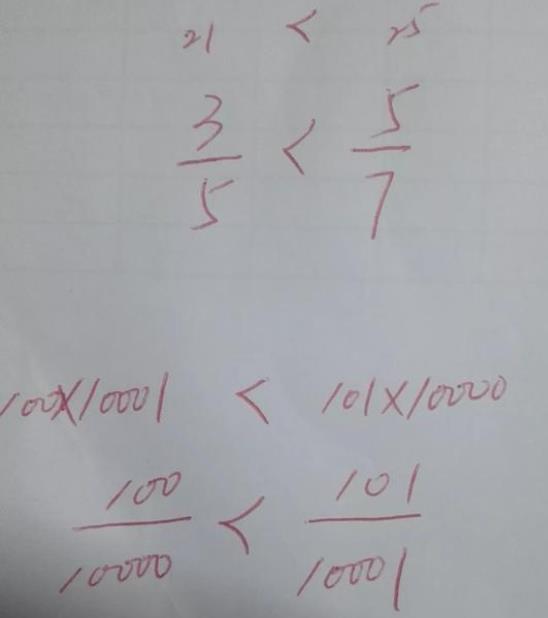 证明100/10000<101/10001解法一,分数如何比较大小?