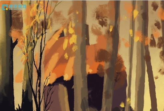 一叶知秋,有哪些赞美秋天落叶、树叶的诗词句?